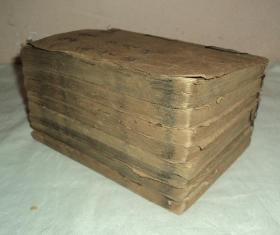 清代木刻小说、【再生缘】、存8册。木刻版画十幅,品相不错前后不缺页。