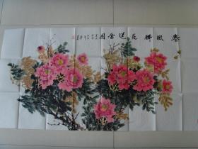 帖墨润:画:春风佛花送香图(带信封)