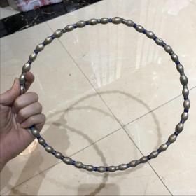 清代银珐琅项圈
