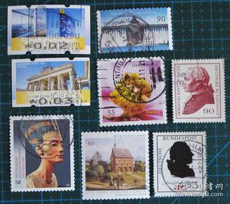 德国邮票----混合邮票(信销票)