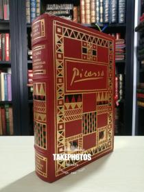 picasso《毕加索传》Franklin Library 1988年 真皮精装 作家Arianna Stassinopoulos Huffington首版 签名版 signed first edition