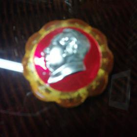 毛主席九星异形像章