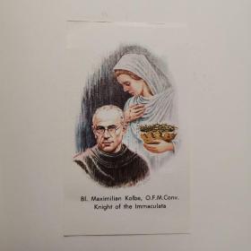 基督教祈祷卡 Bl. Maximilian Kolbe, O.F.M.Conv. Knight of the Immaculata