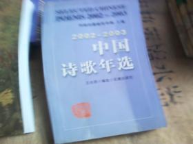 中国诗歌年选 2002--2003
