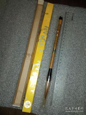日本老毛笔,文志堂,泰山笔《四号地印,仙寿》,1支。(原盒,原包装。