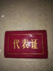塑料袖标式代表证一枚(尺寸9.5*5.5CM)