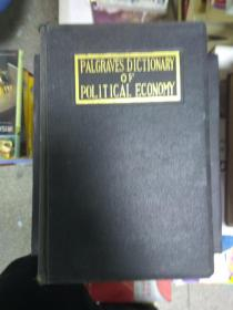 现货~ PALGRAVE'S DICTIONARY OF POLITICAL ECONOMY