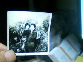 1寸半黑白照片 母女;