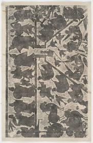 升鼎图。原刻。武氏祠画像。武氏祠左石室东壁下石画像右段。汉刻石,清拓本,拓片尺寸72.45*111厘米。宣纸原色微喷印制,订单印制不支持退货