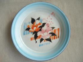 花卉搪瓷盘子