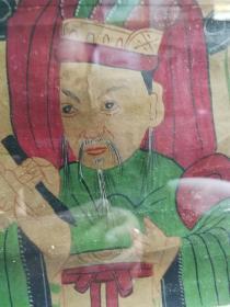 民国手绘彩色人物画