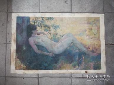 精美漂亮的手绘人体旧油画