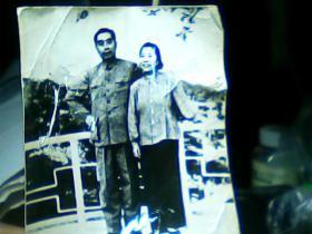 5寸黑白照片周恩来和邓颖超