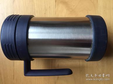 日本三相SANSO  双层保温杯 不锈钢家用口杯带盖杯子    本色