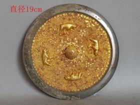 乡下收的唐代嵌金丝铜镜