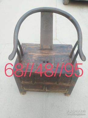 清代榆木钱柜椅,全品 尺寸如图 运费自理