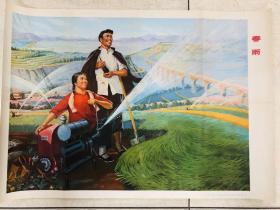 1976年年画上海人民出版社(春雨)对开