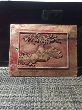 《特价》民国木雕,博古图,茶壶茶道