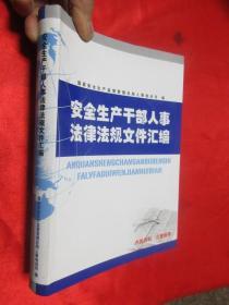 安全生产干部人事法律法规文件汇编    【16开,软精装】