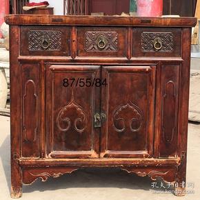 民国时期的榆木小书柜一个全品包老jd尺寸如图 运费自理