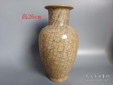 乡下收的宋代冰裂纹瓷瓶摆件