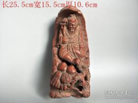 清代传世雕工不错的老竹雕人物雕摆件
