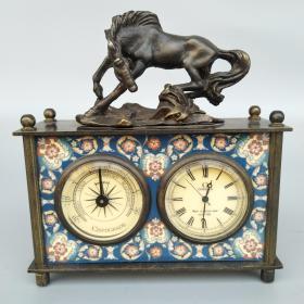 欧美风情 纯铜双盘机械马表