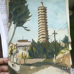吴小昌写生油画。