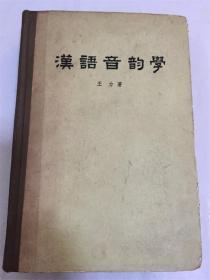 汉语音韵学 /王力著  精装本 繁体字 中华书局