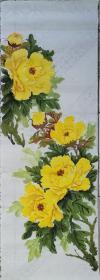 移民国外的 知名画家 舍爱留下『没有题款 』 精美 牡丹画 哪位买回去 可任意题款现低价出售!(04)