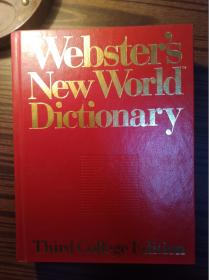 websters new worid dictionary                   (16开精装本,品好)《122》
