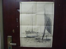 山东艺术学院出的铅笔画一幅(长64厘米,宽46厘米)