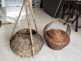 民俗老物件  竹编提篮  保存完整  全品通走