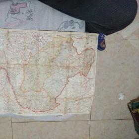 满洲国地图,黑河省,兴安东省,及兴安北省地图