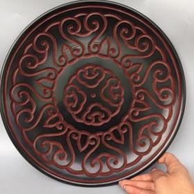 漆器几何纹盘1