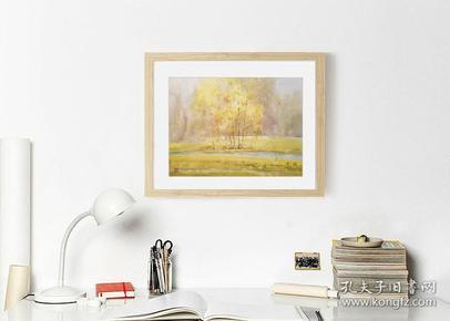 肖亚平水彩画《秋之五-金色的梦》