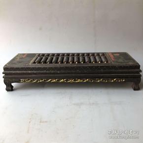 收来的红木漆器长方型精打细算算盘摆件