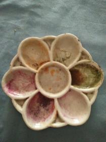 民国文房用瓷颜色瓷盘直径13厘米