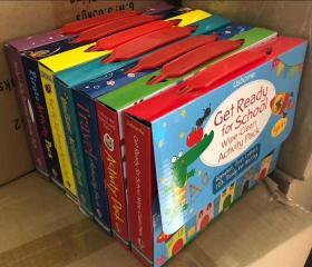 盒装 dinosaur travel drawing activity get ready for school pirate activity pack 7大盒合售,有找一找、有纵横字谜、有画一画、有贴纸游戏、有场景布置、有故事阅读等等,内容相当丰富!单盒包含4本书!