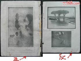 民国18年伟大的《良友》画报★三月号★第卅六期散页,刘崇和——作品《一家》。福建美术展览——刘崇和——作品《一家》,元父摄《波光树影》,世界摄影杰作(美国)昇都《果盘》——中国第一本大型综合性画报——《良友》1926年诞生于上海,创办者是伍联德先生
