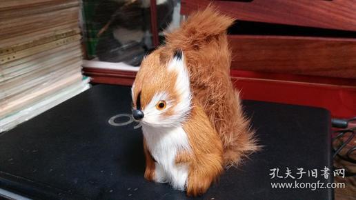 80、90年代出口欧洲真皮毛《魔王松鼠》玩具四个合售