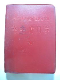 红塑本《我们心中最红最红的红太阳毛主席万岁》