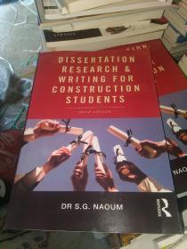 Dissertation Research and Writing for Construction,third edition
