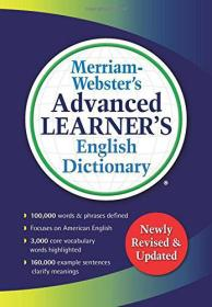 Merriam-Webster's Advanced Learner's English Dictionary韦氏高阶英语学习词典