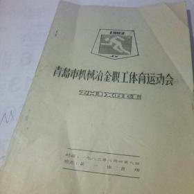 青岛市机械冶金职工体育运动会 1983年【油印本】