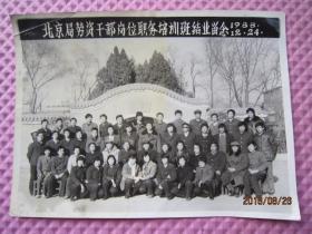北京局劳资干部岗位职务培训班结业留念1988年
