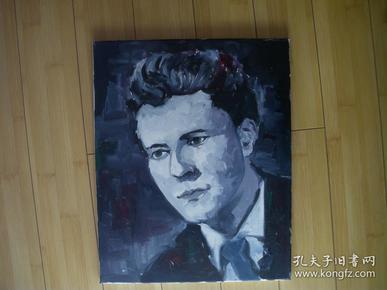 手绘画布面装饰油画 【有木质画框】 男人头像