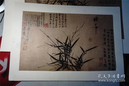 日本【二玄社】复制古画 《宋元名画巨册选》3张合售。  (二玄社原托纸尺寸58*40 ,可直接装框)。单张可购,每一幅400元