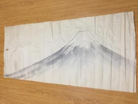 清末到民国日本手绘《富士山图》很大一幅135*58.8厘米