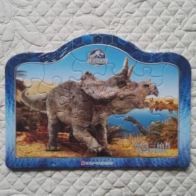 侏罗纪世界 神奇三角龙拼图 儿童玩具 拼图玩具
